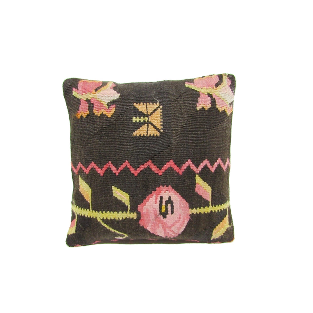 Rose and Lime Kilim Pillow