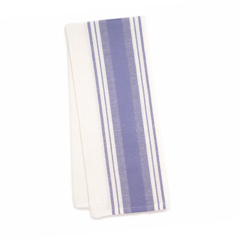Wide Stripe Kitchen Towel, Lavender