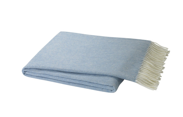 Herringbone Throw, Blue Denim