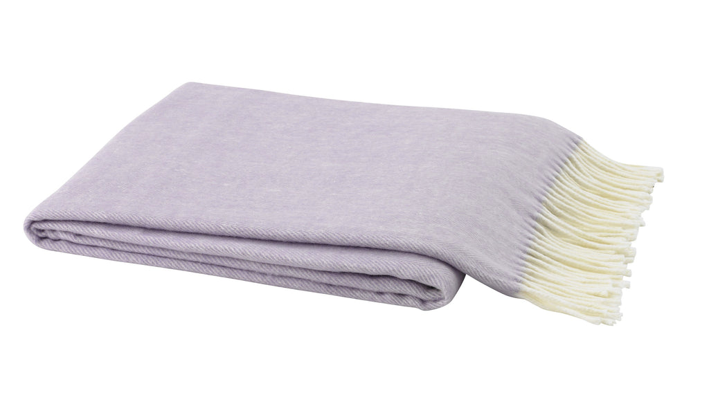 Herringbone Throw, Lilac