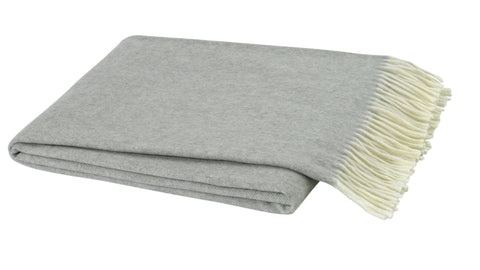Herringbone Throw, Light Gray