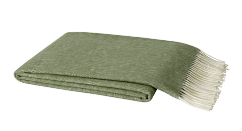 Herringbone Throw, Olive