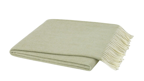 Herringbone Throw, Sage