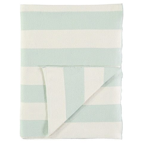 Stripe Knitted Blanket - Mint