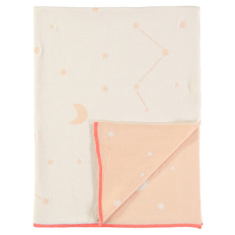 Constellation Knitted Blanket - Pink