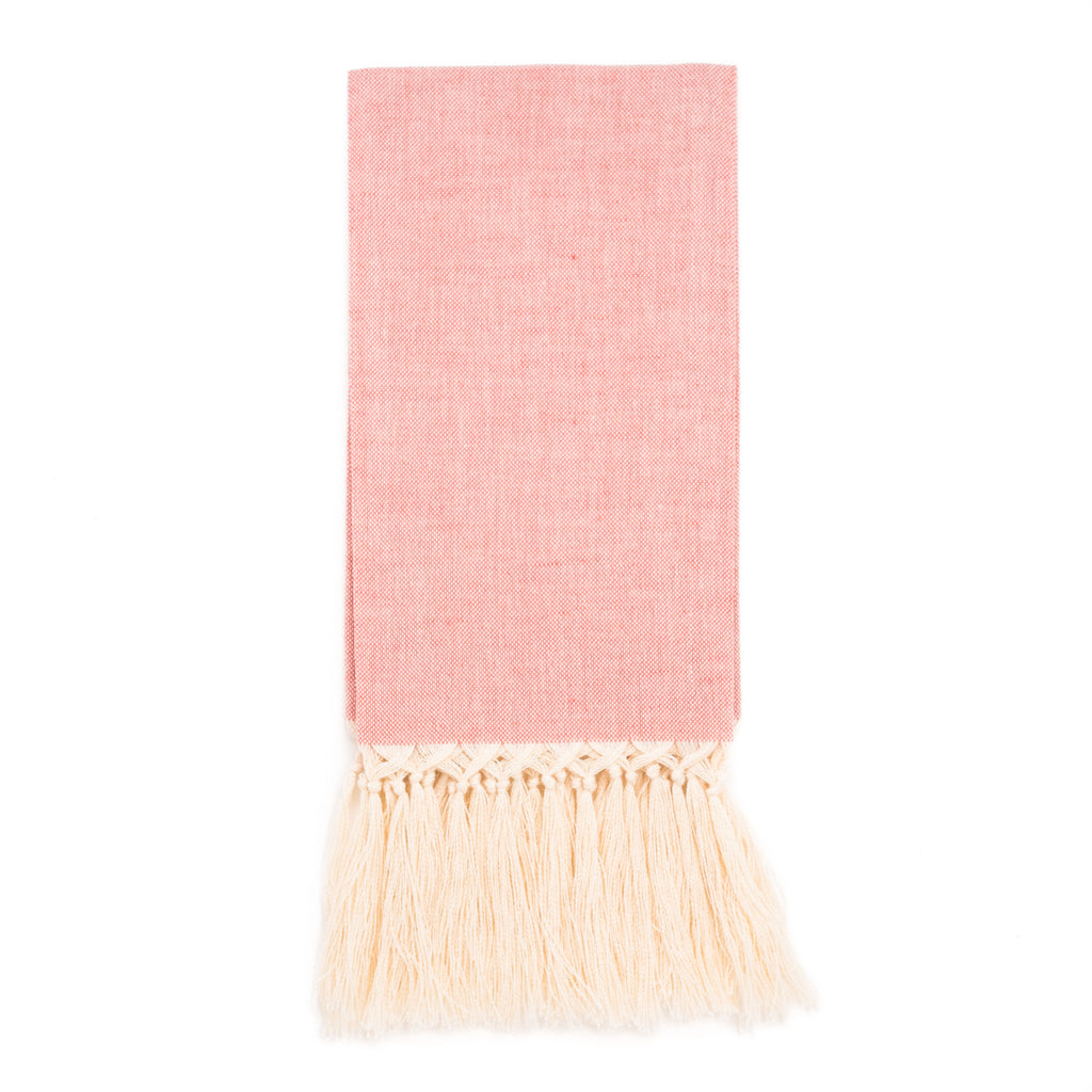 Zodiaco Fringe Guest Towel, Pink