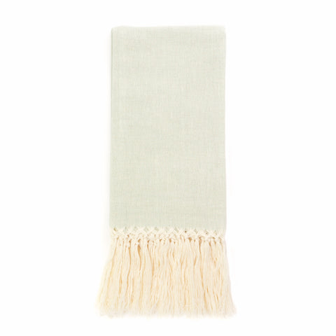 Zodiaco Fringe Guest Towel, Light Green