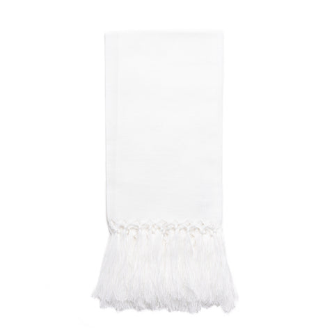 Zodiaco Fringe Guest Towel, White