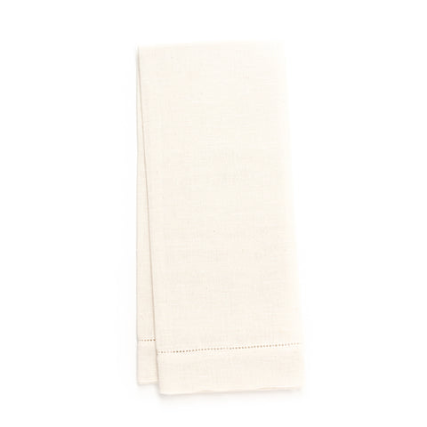 Zodiaco Hemstitch Guest Towel, Cream