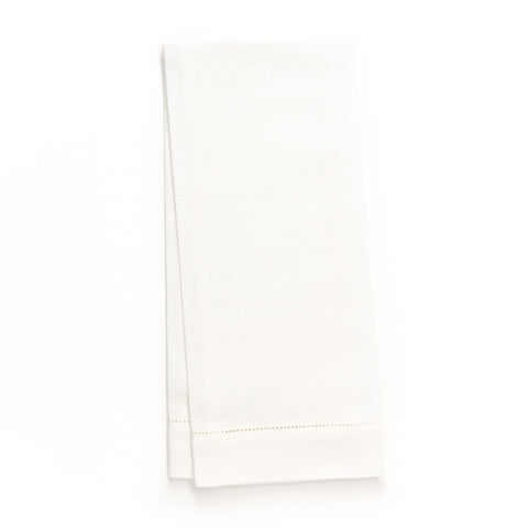 Zodiaco Hemstitch Guest Towel, White