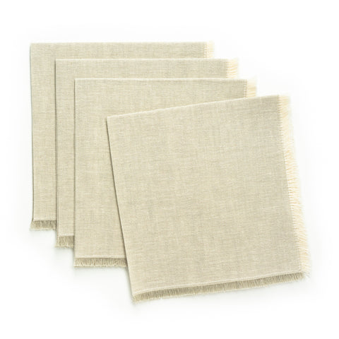 Solid Fringe Luncheon Napkin, Natural