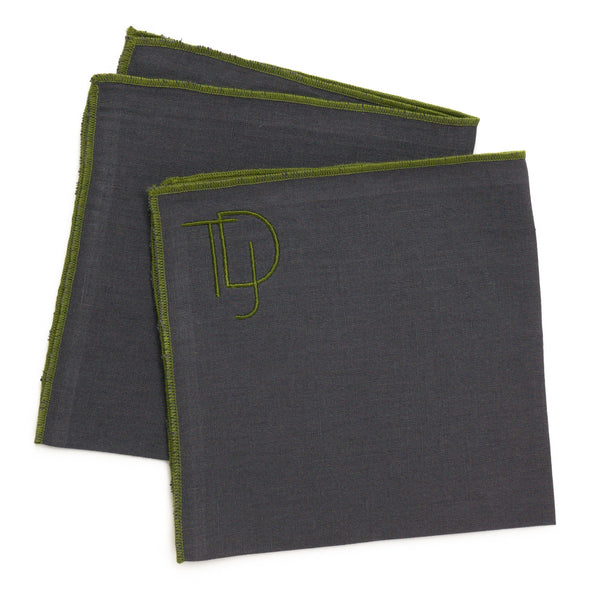 Handkerchief, Charcoal with Lime