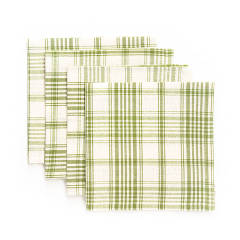Plaid Luncheon Napkin, Green