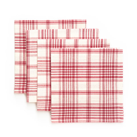 Plaid Luncheon Napkin, Red
