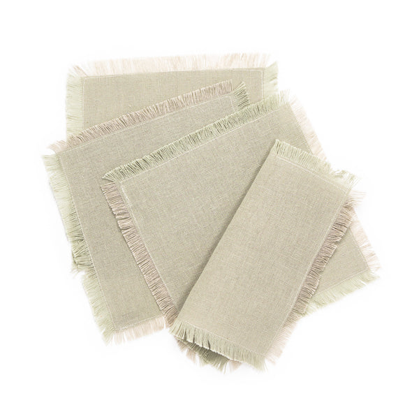 Solid Fringe Cocktail Napkin, Natural
