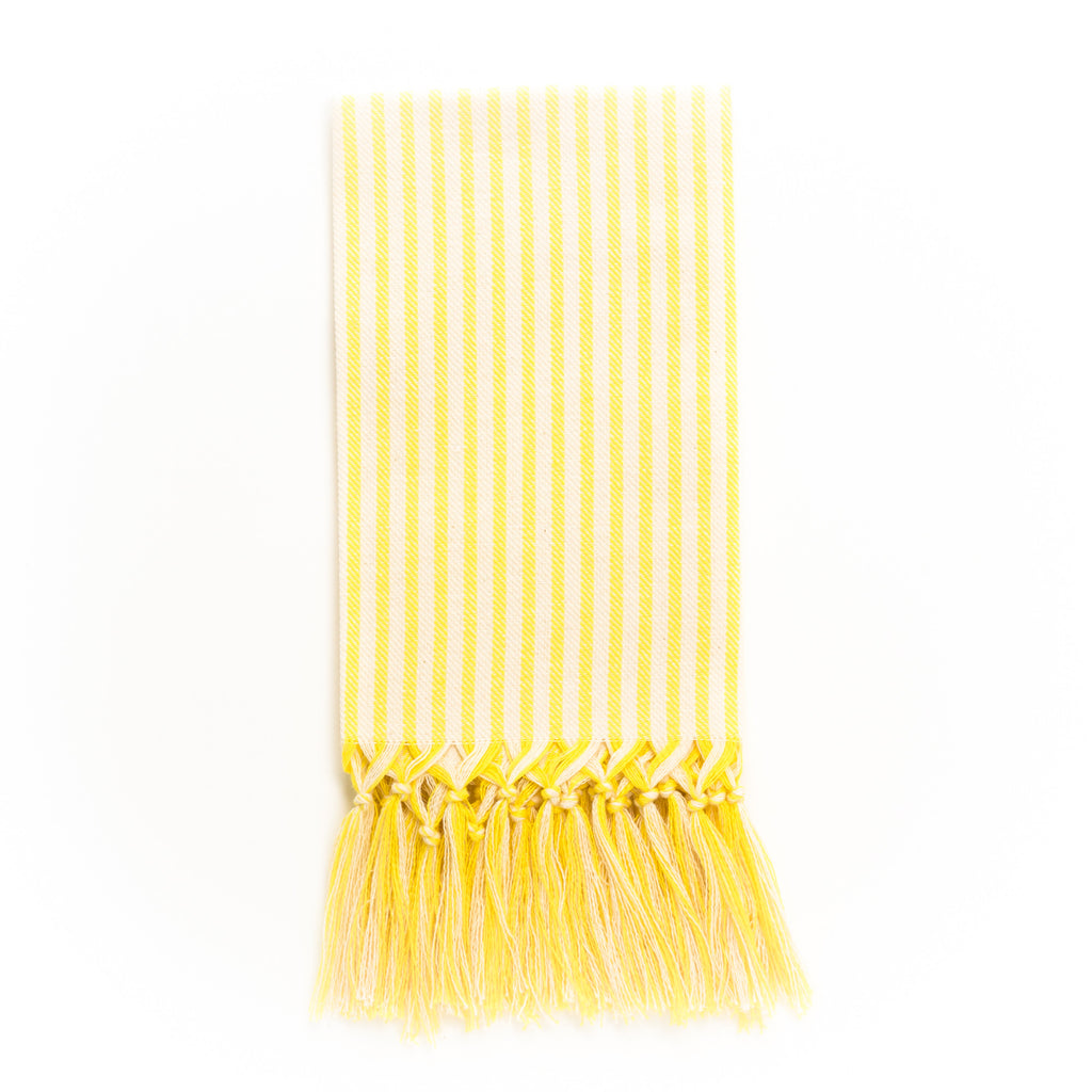 Stripe Fringe Guest Towel, Yellow
