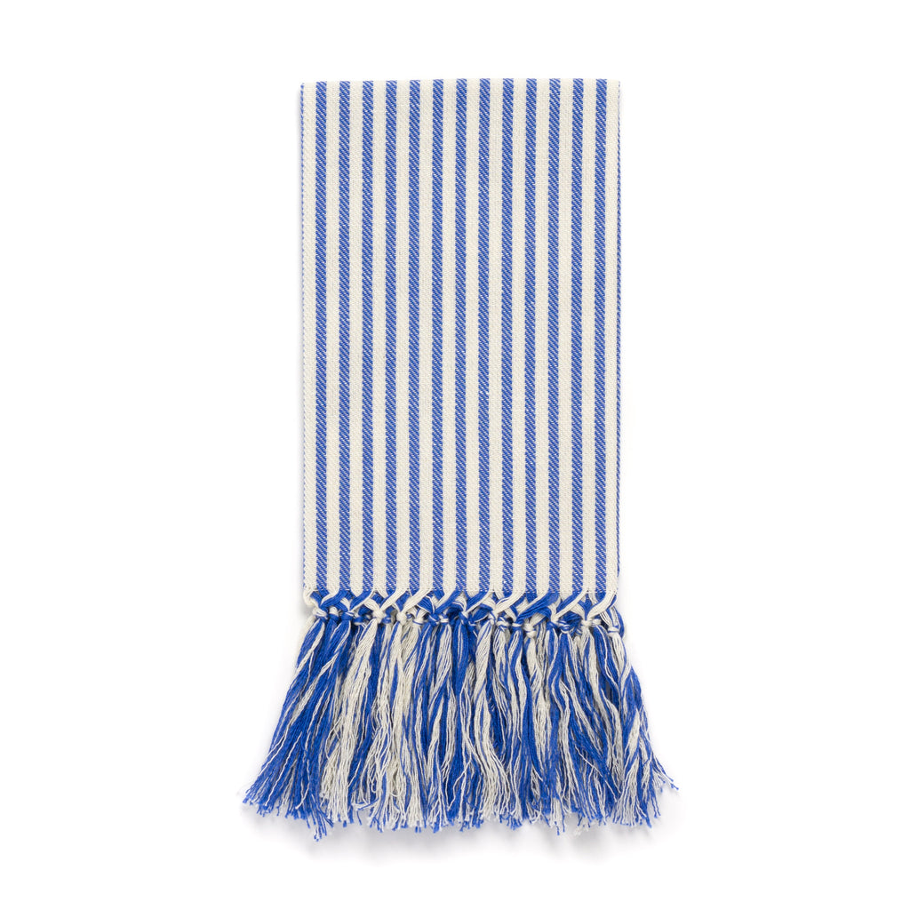 Stripe Fringe Guest Towel, Blue
