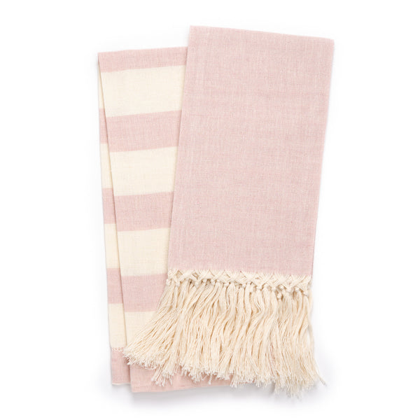 Zodiaco Fringe Guest Towel, Light Pink