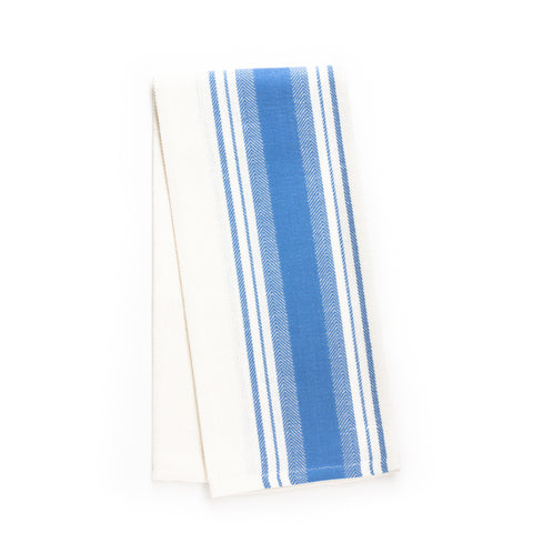 Wide Stripe Kitchen Towel, Blue
