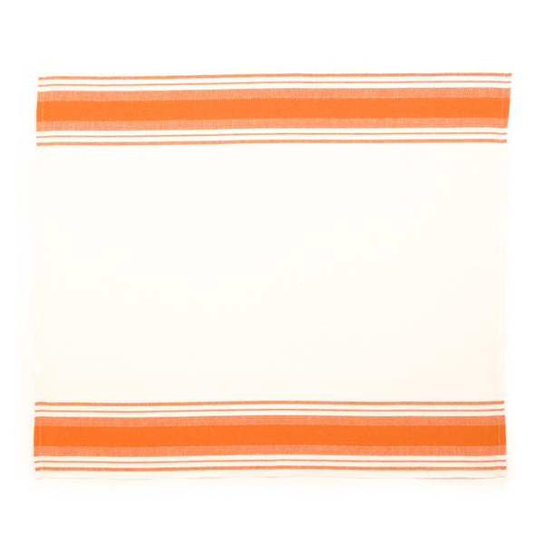 Wide Stripe Kitchen Towel, Coral