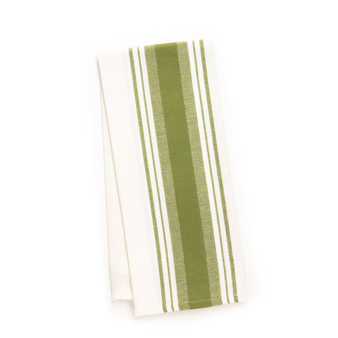 Wide Stripe Kitchen Towel, Green