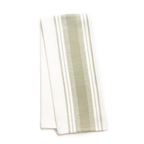 Wide Stripe Kitchen Towel, Grey