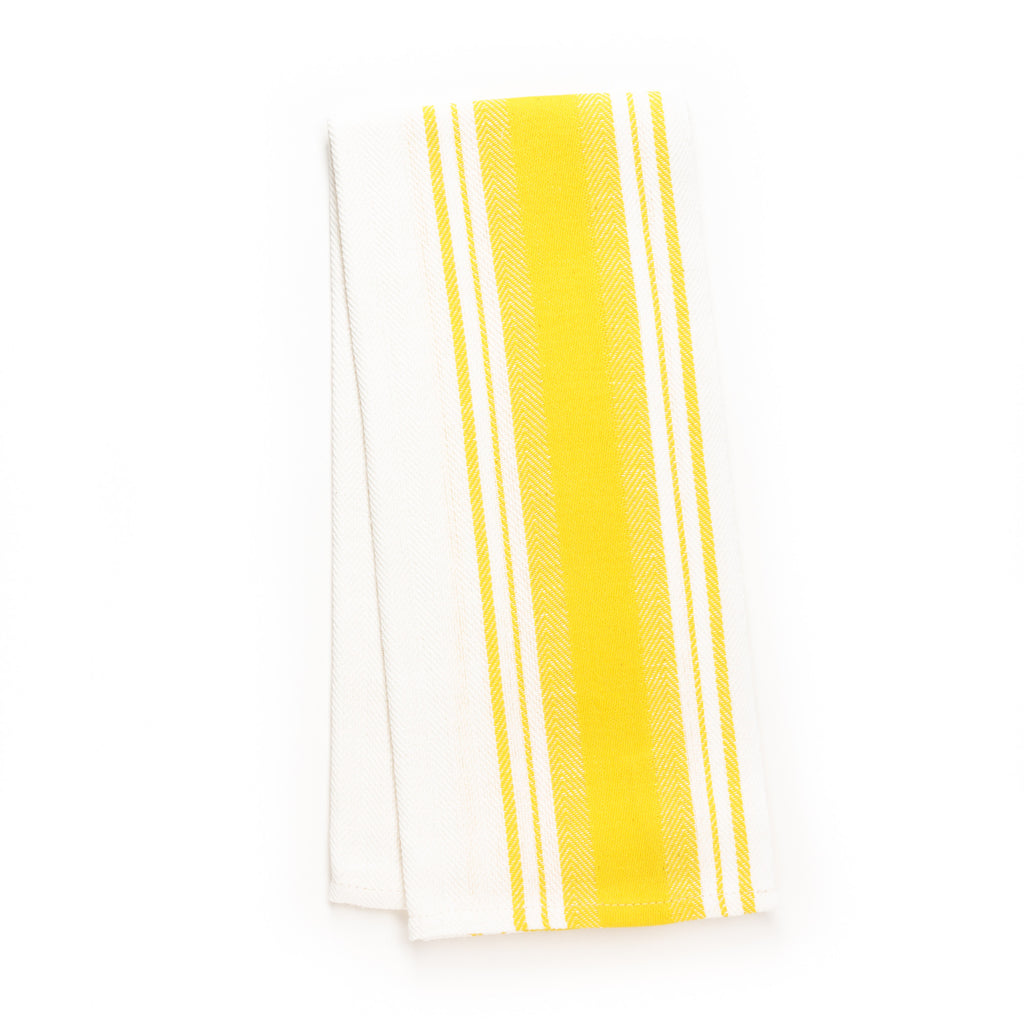 Merveilleux Wide Stripe Kitchen Towel, Yellow