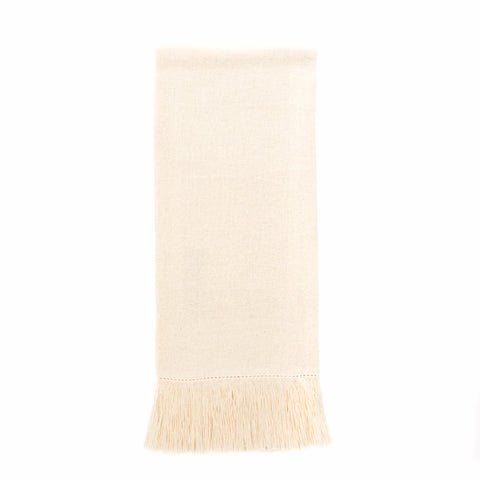 Zodiaco Short Fringe Guest Towel, Cream