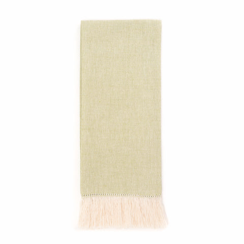 Zodiaco Short Fringe Guest Towel, Green