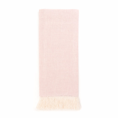 Zodiaco Short Fringe Guest Towel, Light Pink