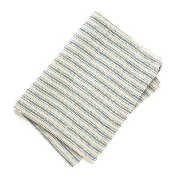 Boat Stripe Tea Towel, Natural/Blue
