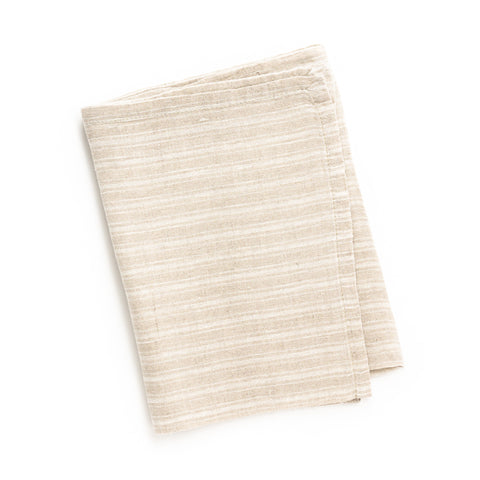Boat Stripe Tea Towel, Natural/White