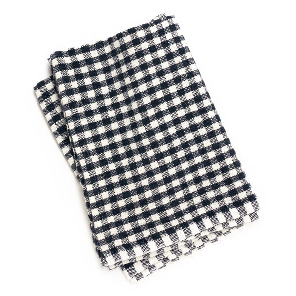 Gingham Tea Towel, Blue/Ivory
