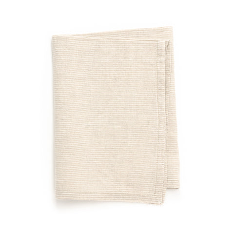 Pico Stripe Tea Towel, Ivory/Natural