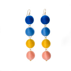 Four Tier Pom Bon Earrings, The Joni