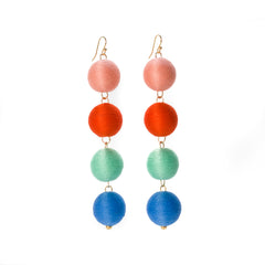 Four Tier Pom Bon Earrings, The Kelsey