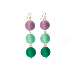 Three Tier Pom Bon Earrings, The Lily