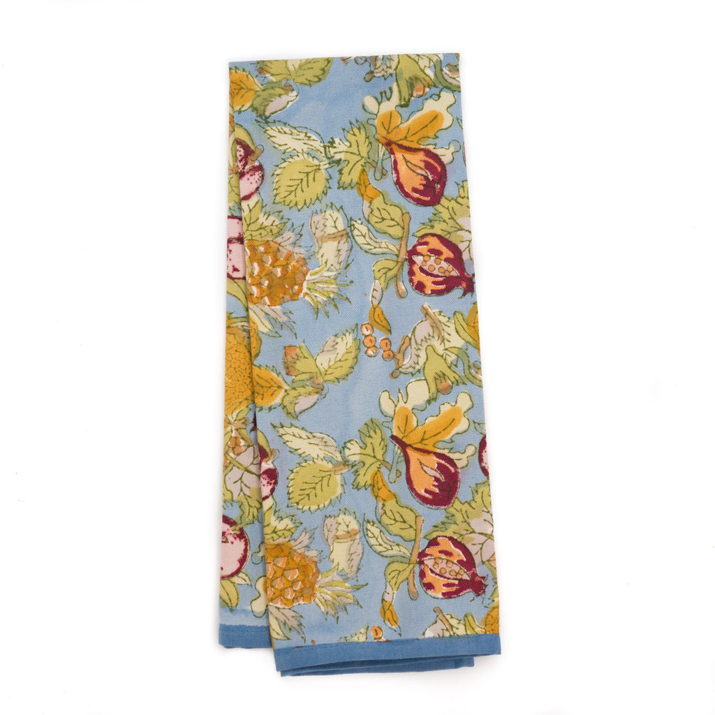 Tutti Frutti Tea Towel, Blue/Red