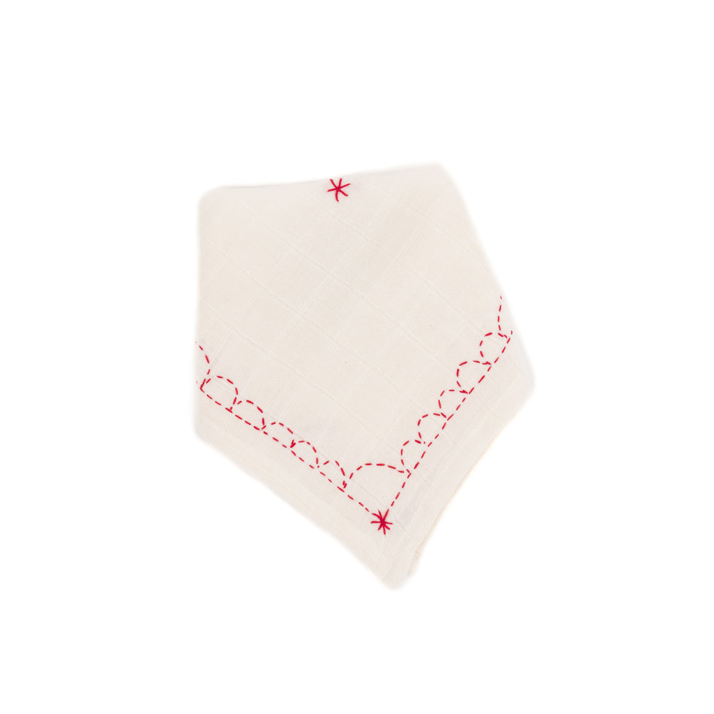 Bandana Bib, Cherry Red