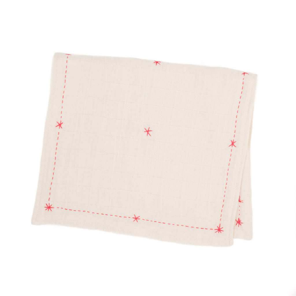 Lovie Burp Cloth, Pink Peony