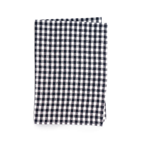 Linen Kitchen Cloth, Navy Gingham
