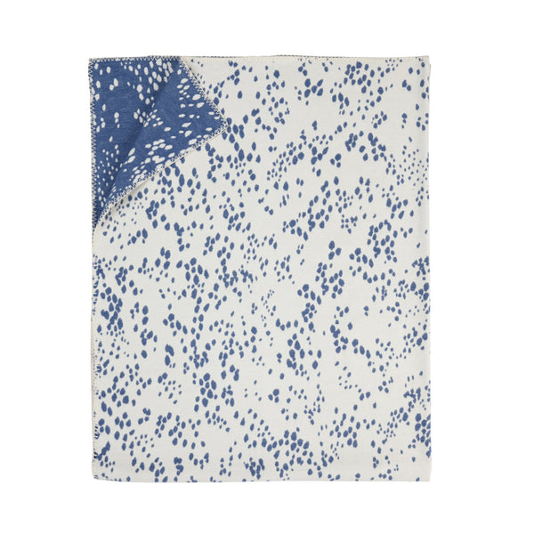 Cherry Drops Blanket, Blue