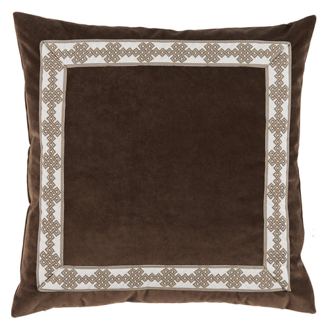 Velvet Amalfi Tape Pillow, Cafe