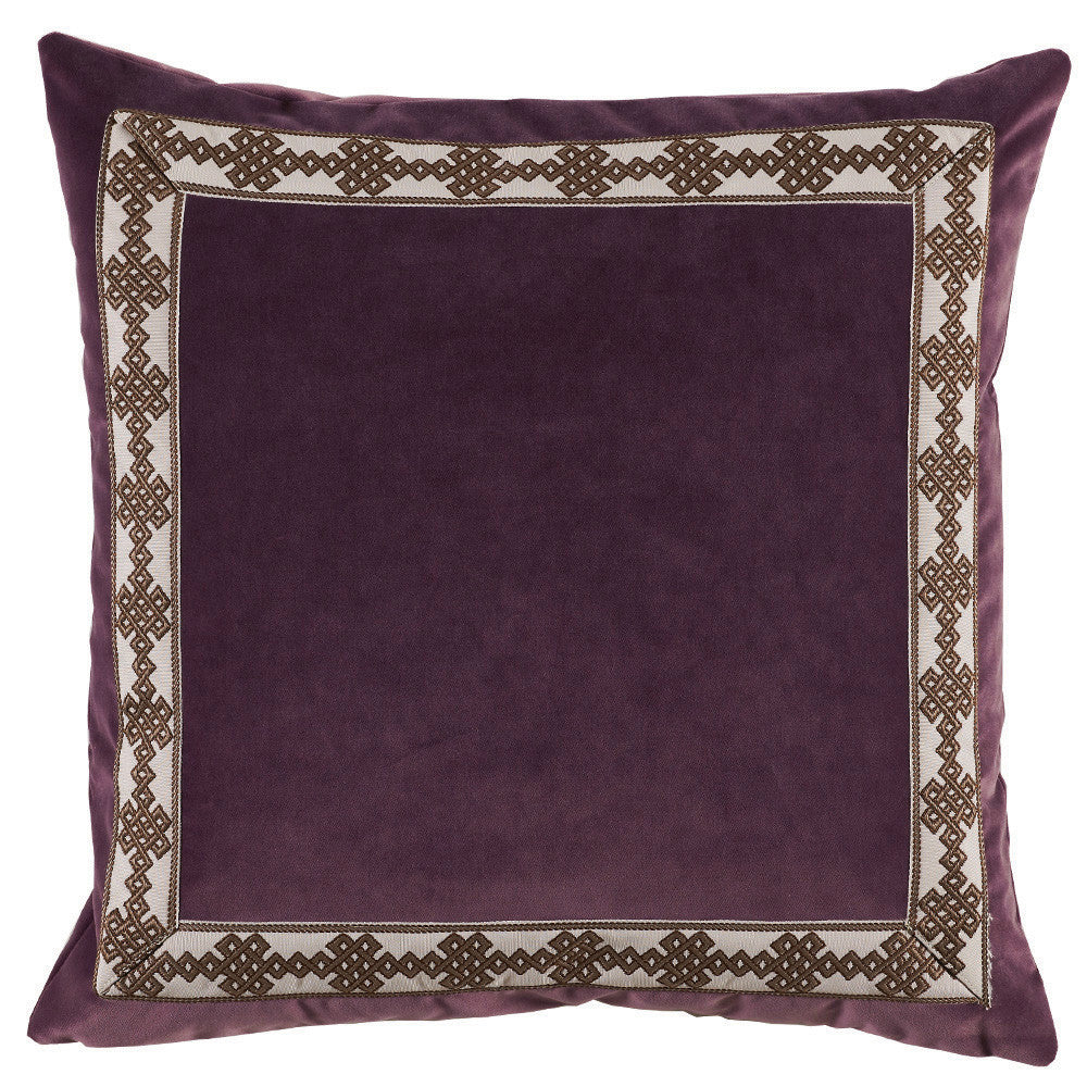 Velvet Amalfi Tape Pillow, Fig