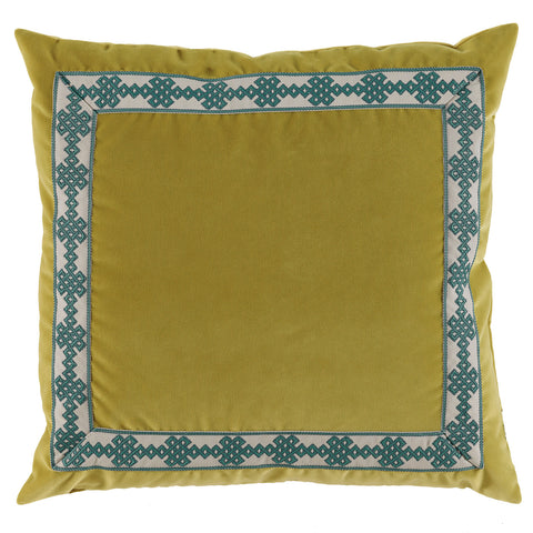 Velvet Amalfi Tape Pillow, Quince