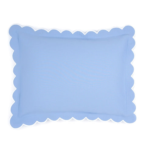 Diamond Pique Boudoir Pillow, Azure