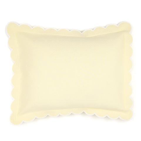 Diamond Pique Boudoir Pillow, Butter