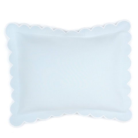 Diamond Pique Boudoir Pillow, Light Blue