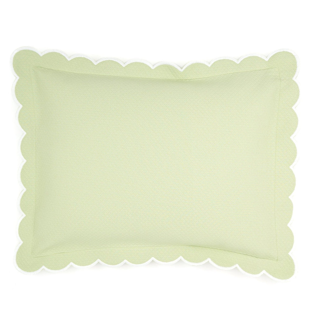 Diamond Pique Boudoir Pillow, Spring Green