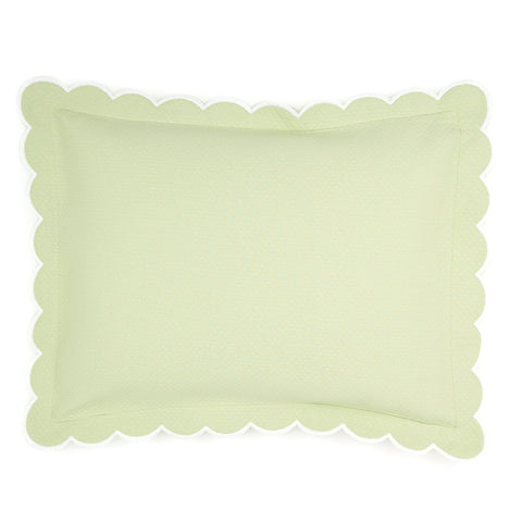 Diamond Pique Boudoir, Spring Green